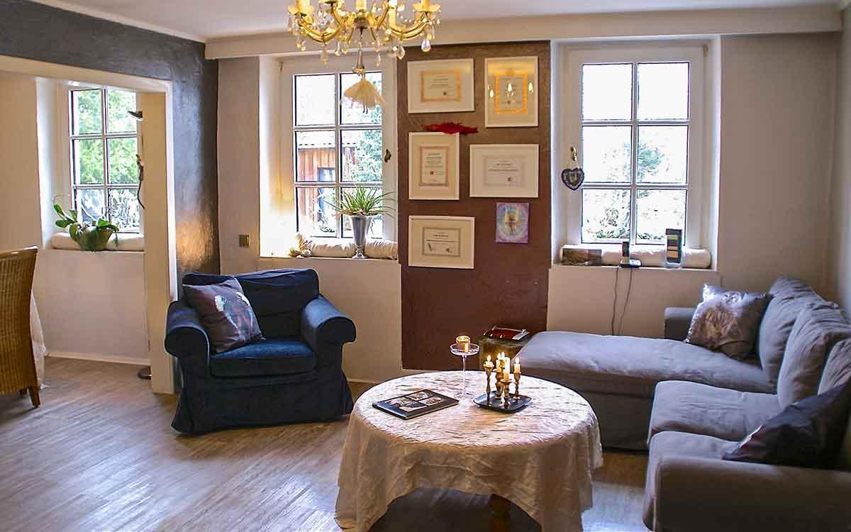 Lounge im Gästehaus in Mettenheim
